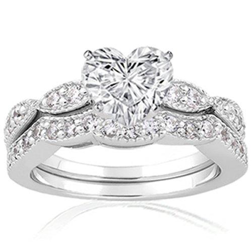 1.45 Ct Heart Shaped Diamond Engagement Wedding