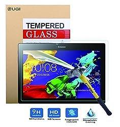 Lenovo Tab 2 A10 screen protector, KuGi ® Ultra-thin 9H Hardness High Quality HD clear Premium Tempered Glass Screen Protector for Lenovo Tab 2 A10-70 tablet. (1 pcs)