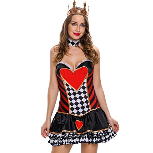 Christmas YeeATZ Women's 2pcs Sexy Queen of Hearts Cosplay Costume(Size,S) (Black Sex Link Chicken compare prices)