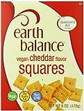 Earth Balance Vegan Snacks, Cheddar Flavor Squares, 6 ounce