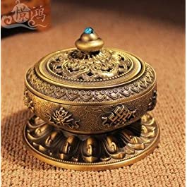 Quemadordeinciensorecipientesoporte Jeweled Oro superior
