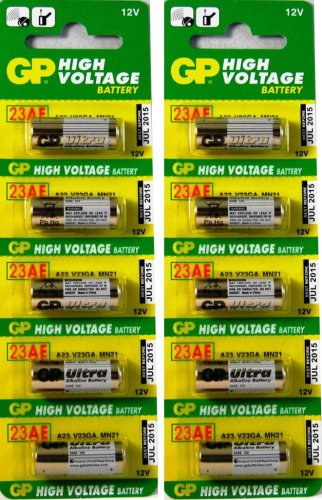 10 X GP A23 21/23 GP23 MN21 23A 23GA 12v Batteries BY GP