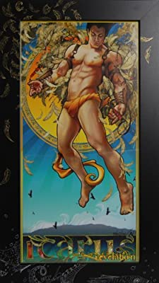 """Icarus' Revelation"" in Hand-Decorated Frame"
