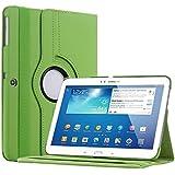 Bestwe 360° Ledertasche Flip Case Tasche Etui für Samsung Galaxy Tab 3 10.1 mit Ständerfunktion -Multi Color Options (Grün)