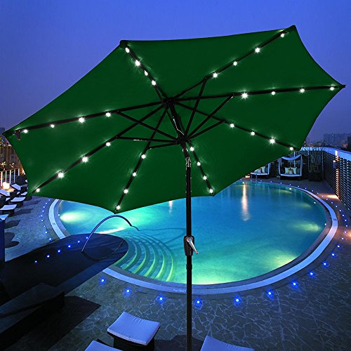 Outdoor Umbrella With Solar Lights Funk This House