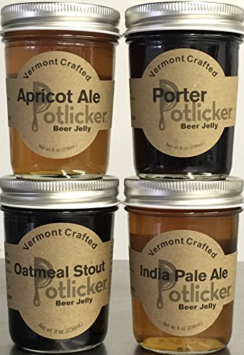 Set of 4 Jars of Craft Beer Jelly - IPA, Porter, Apricot Ale and Oatmeal Stout (Beer Jelly Jam compare prices)