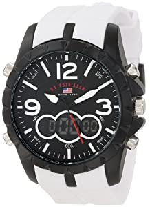U.S. Polo Assn. Sport Men's US9250 White Analog Digital Strap Watch