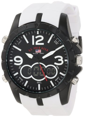 U.S. Polo Assn. Sport Men's US9250 White Analog