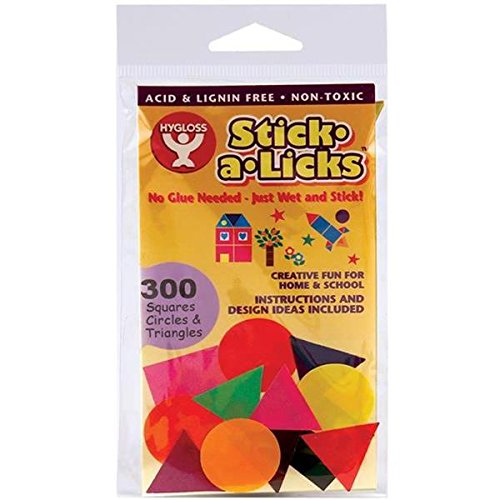 "Stick-A-Licks 300/Pkg-1"" Squares/Circles/Triangles - 1"