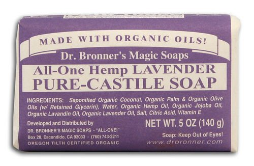 Dr Bronner Hemp Lavender Pure Castile Soap Org (Pack of 3)