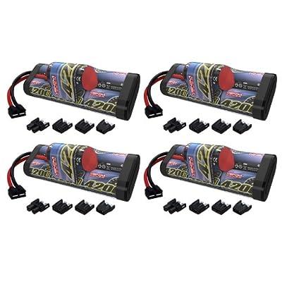 Venom 8.4V 4200mAh 7-Cell Hump NiMH Battery with Universal Plug (EC3/Deans/Traxxas/Tamiya) x4 Packs