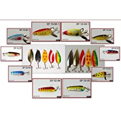 Akuna Pack of 20 New 3 Spoon Fishing Lures Variety Pack by Akuna