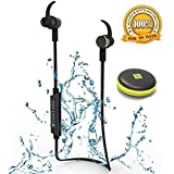 Bluetooth Headphones,SONYXER Waterproof Earphones Wireless Headphone Sport Headset With Mic Wireless Ear Buds...