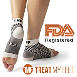 Plantar Fasciitis Sock & Compression Foot Sleeve: FDA-Registered Stocking For Heel, Ankle, Arch Support (Pair) - Edema Relief Orthopedic Socks For Men & Women - Great Fit Guaranteed By Treat My Feet
