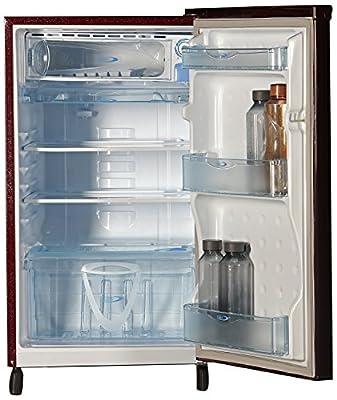 Kelvinator KW163PT-HR Direct-cool Single-door Refrigerator (150 Ltrs, 3 Star Rating, Gulmohar Red)