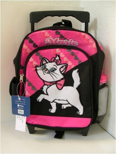 Disney Marie The Cat Backpack w/ Wheel : Kid Size Rolling luggage