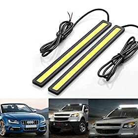 HAMIST Daylight Driving Daytime Running Light Lamp For Car SUV Sedan Coupe Vehicle Waterproof Aluminum High Power 6W 6000K Xenon Slim COB LED DRL (2 Pack)