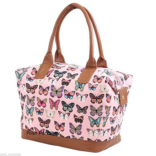 More4bagz Ladies Womens Large Canvas Shoulder Weekend Overnight Maternity Polka Dots, Owl, Floral Print Handbag...