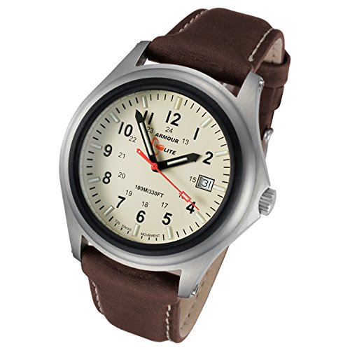 Armourlite ShatterProof Scratch Proof High Impact Glass Captain Field H3 Tritium 100m Watch