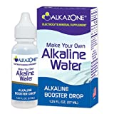 ALKAZONE Make Your Own Alkaline Water | 1 Pack Make 20 Gallon of Alkaline Water | Alkaline Booster Drop | Single Pack 1.25 oz | (Color: Clear, Tamaño: 1.25 fl oz)