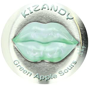 Kizandy Candy, Green Apple Sours, 6 Count (Pack of 6)