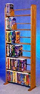 6 Row Dowel VHS Rack (Clear)