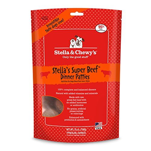 Stella & Chewy's Freeze-Dried Raw Stella's Super Beef Dinner Patties Dog Food, 25 oz bag (Dinner Food compare prices)
