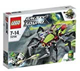 LEGO Crater Creeper - 70706 70706 (Take Galaxy Squad green team leader Chuck Stonebreaker on a mission to exterminate the alien's Crater Creeper! Jump into the hero hovercraft and chase after the bug-eyed buggoid in the Crater Creeper with insect legs, c