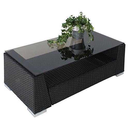 Tectake luxury rattan aluminium garden furniture sofa set outdoor wicker with glass table 4 - Garden furniture colours ...