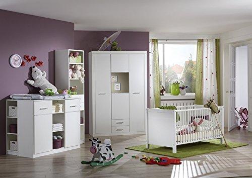 Babyzimmer »MARRY« 5-tlg in alpinweiß - Strasskristall