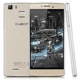 "Cubot S600 - Smartphone Libre 4G Android 5.1 (Quad Core, Pantalla 5.0"", IPS 1280*720 HD, 2GB RAM, 16GB ROM, Cámara 13.0MP, Dual SIM, Smart Gesto, Escaner Huellas Dactilares) Dorado"
