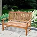Vifah V1236e Outdoor Wood Bench from DROPSHIP VENDOR GROUP, LLC - DROPSHIP