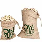 Old Fashiond Burlap Roasted Salted Pistachio Nut Gift 1 Pound - Oh! Nuts