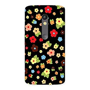 Special Multicolor in Black Back Case Cover for Moto X Play