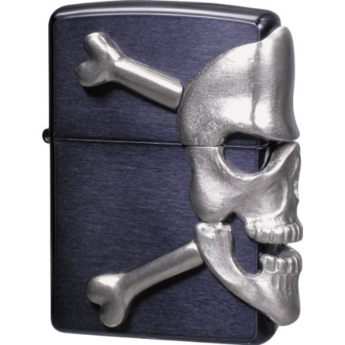 ZIPPO (Zippo) BIG SKULL METAL big / skull / metal skull metal paste porcelain clear painted black BIG-SKULL (M) Black