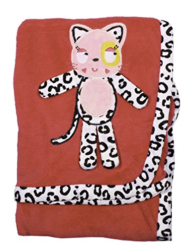 Nuby Animals Cuddly Soft Blanket Manta for Baby (Pink Cat)