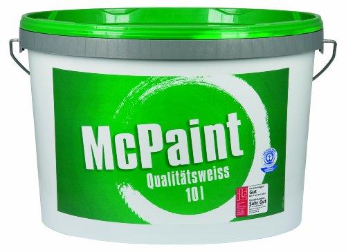 Wandfarbe Qualitätsweiß matt 10 Liter, weiß