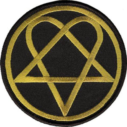 Application Him Heartagram Round Logo Patch