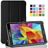 MoKo Samsung Galaxy Tab 4 7.0 Case - Ultra Slim Lightweight Smart-shell Stand Case for Samsung Galaxy Tab4 7.0 Inch Tablet, BLACK (WILL NOT Fit Samsung Galaxy Tab 3 7.0)