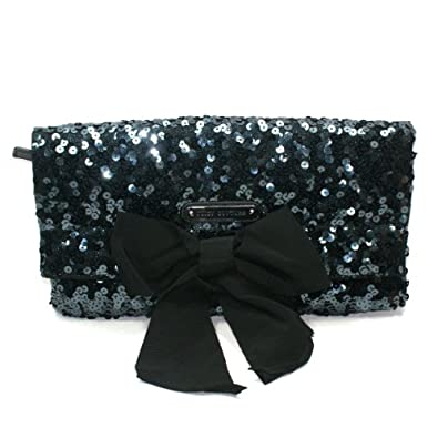 Juicy Couture Black Sequin Large Clutch Bag (Black) #YHRUO011