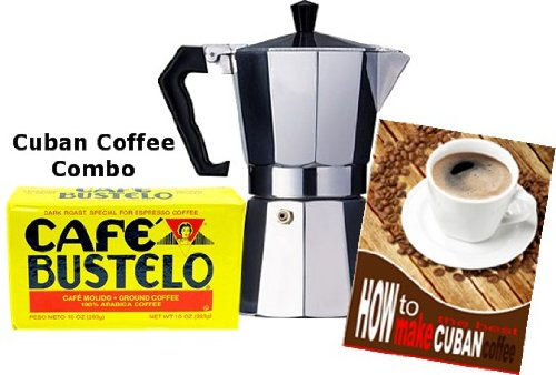 Cuban Coffee Maker Name : Bustelo Cuban Style Coffee and 3 Cup Coffee Maker Combo. Coffee Outlet Direct