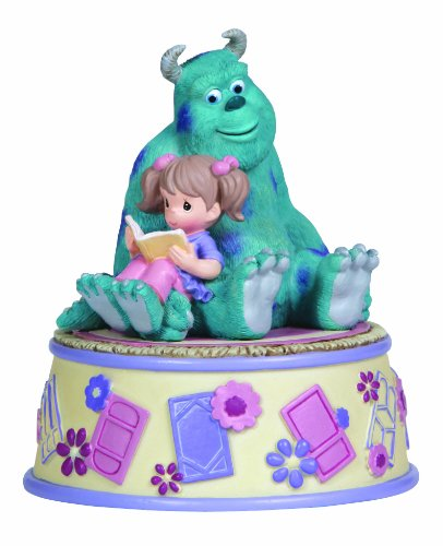 Precious Moments Disney Girl Reading with Sully Musical