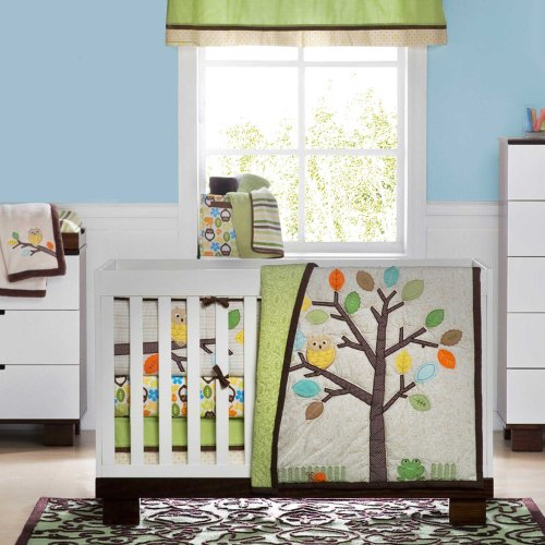 Arbor Friends 4 Piece Baby Crib Bedding Set by Not Neutral - 1