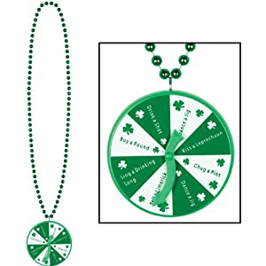 Beistle 30533 Beads with St. Patrick Spinner Medallion, 40-Inch