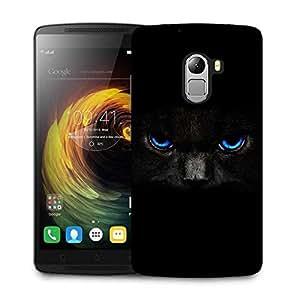 Snoogg black cat blue eyes Designer Protective Back Case Cover For Lenovo K4 Note