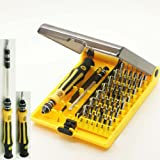 45 in 1 Professional Portable Opening Tool Compact Screwdriver Kit Set with Tweezers & Extension Shaft for Precise Repair or Maintenance Jk6089-A