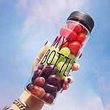 """Botella de viaje, transparente, portátil, 500 ml, para llevar agua, zumos de frutas, etc., ideal para hacer deporte o viajar, con el texto en inglés: """"My Bottle"""""""
