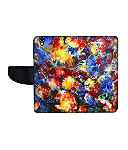 KolorEdge Printed Flip Cover For Micromax Yureka -Multicolor (55KeMLogo10484MmxYureka)