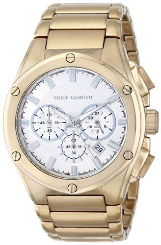Vince Camuto VC/1065SVGP - Reloj unisex, correa de acero inoxidable color dorado