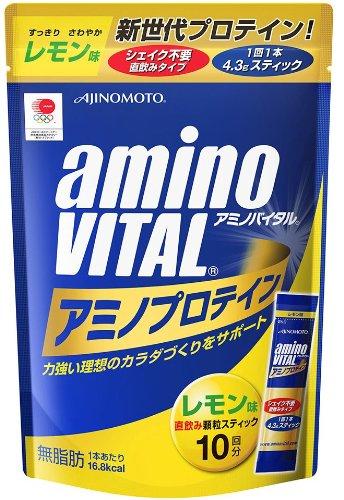 味の素 「アミノバイタル」プロテインレモン味10本
